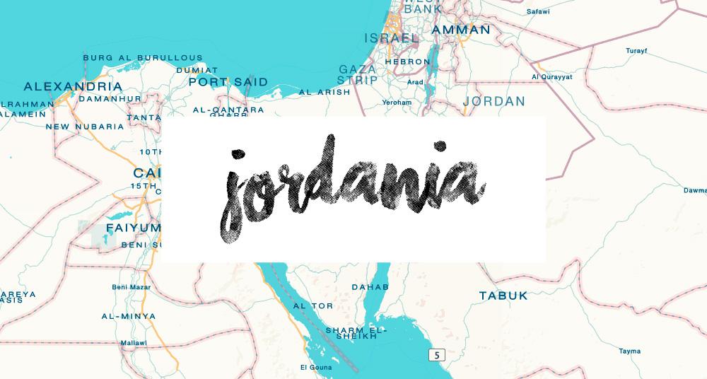 Jordania kartta