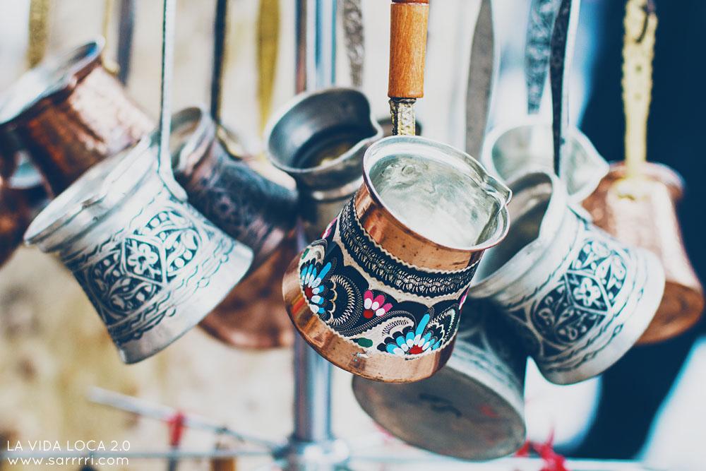 turkkilainen kahvipannu Grand bazaar Istanbul