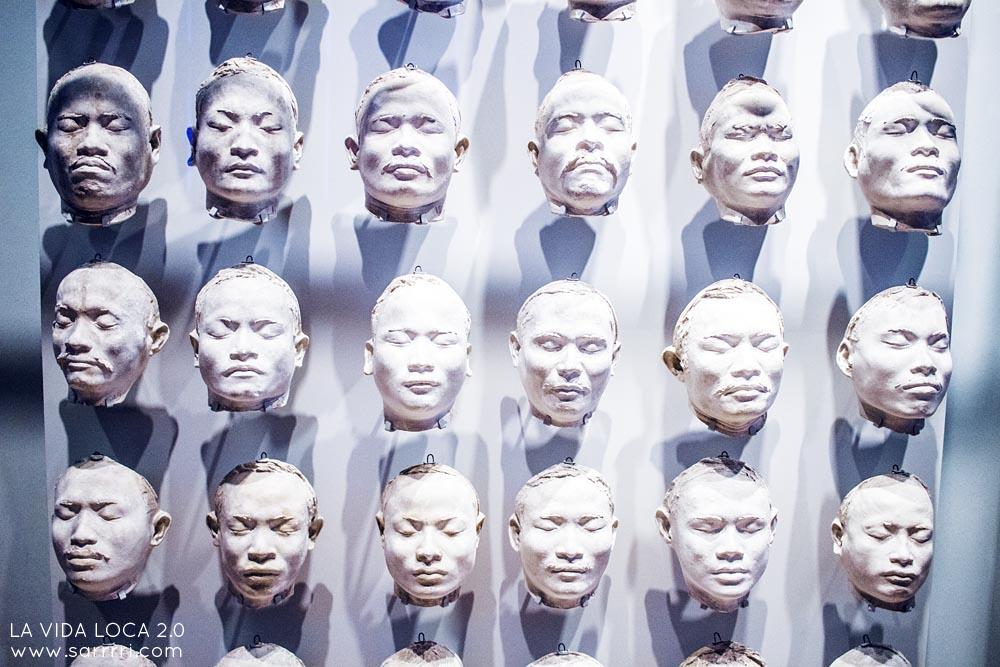 Facial casts of Nias islanders