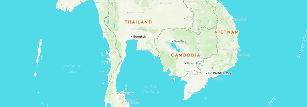 Bangkok kartta