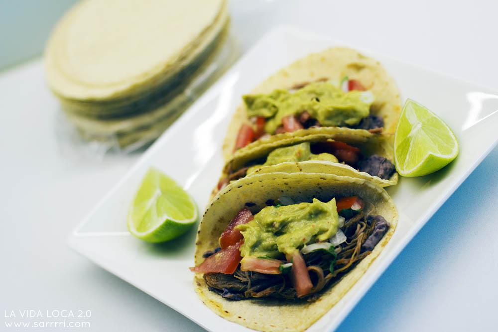 Tacos de Carnitas Tortillas La Familia meksikolainen tortilla taco