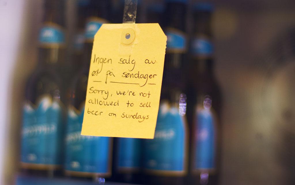 oluen myynti norjassa sunnuntaisin lofootit autolla